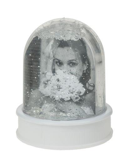 boule neige porte photo avec paille opitec. Black Bedroom Furniture Sets. Home Design Ideas