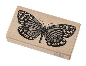 Timbro di legno - farfalla, ca. 110 x 60 x 30 mm