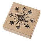 Houten stempel 'Bloemen magie' (7 x 7 cm)