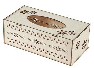 Kosmetiktuch-Box aus Holz (25,5 x 13 x 9 cm)