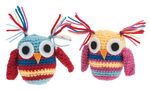 Crochet set - Owls , 2 x 8 cm
