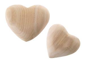 Corazón de madera, (85 x 75 x 15 mm), naturales