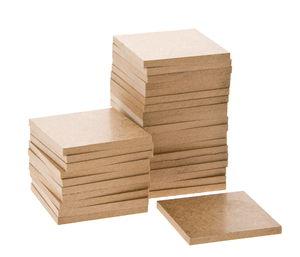 Holzquadrate, 30 Stück