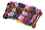 Stickgarn, 52 Strängchen á 8 m in 26 Farben