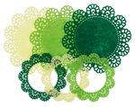 Felt frames , shades of green