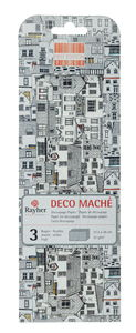 Carta decoupage, 3 fogli Coastal Town (26x37,5cm)