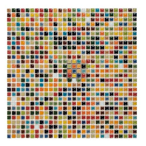 Mosaico cer mico sobre red de colores 30x30 opitec - Mosaico de colores ...