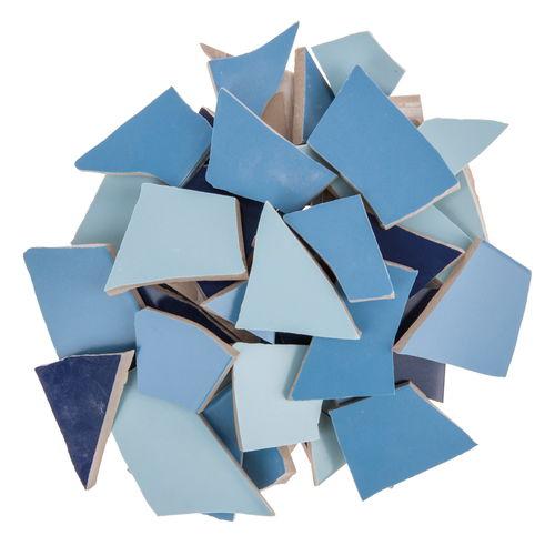 Mosaik fliesen scherben 1 7 kg blau mix opitec for Mosaik fliesen frostsicher