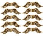 Metallperlen, 10 Stück Flügel gold (23 mm)