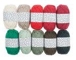 Lote de mini ovillos de lana, X-Mas, 10 g.