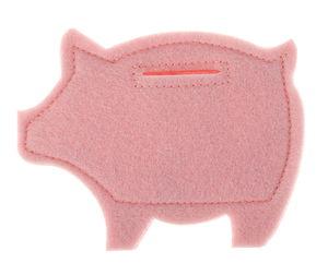 Maialino di feltro per monete, rosa (120 x 95 mm)