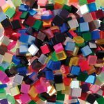Acrylic Mosaic, 45 gm assorted. colour (5 x 5 mm)