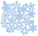 Mascherina Mask Stencil Snowstars, ca. 300x300 mm