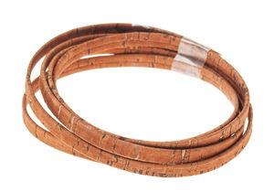 Korkband flach, haselnuss     (5 mm x 100 cm)