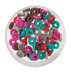 Gummischeiben Mix, 100er-Set koralle (6 mm)