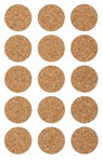 Kurk stickers 'Cirkel' (25 mm) 15 stuks