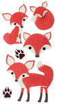 Felt stickers - Foxes ,
