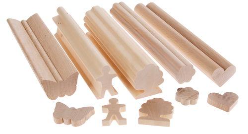 List n de madera con perfil coraz n 50x40x250mm opitec for Perfiles de madera
