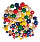 Wooden Beads - Colour Mix