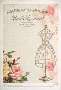 Decoupage-Papier, Paris Fashion  (35 x 50 cm)