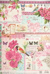 Decoupage-Papier, Postcards & Roses (35 x 50 cm)