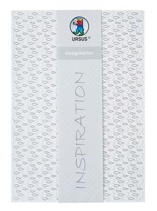 Designkarton Fische, 5 Blatt weiß/silber (DIN A4)