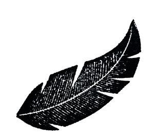 Holzstempel Blatt             (25 x 55 mm)