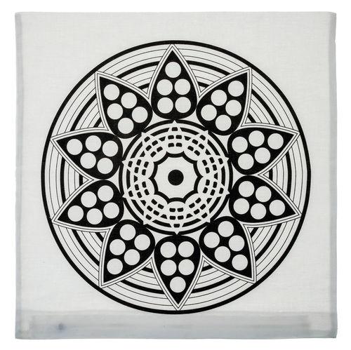 kissenh lle baumw mandala wei schwarz 40x40cm opitec. Black Bedroom Furniture Sets. Home Design Ideas