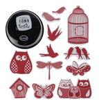 Textil-Stempelset, 16 Stempel Natur + 1 Kissen