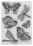 ..Silikonstempel Butterfly 6 Motive