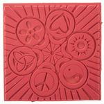Plancha para relieves - Paz (90 x 90 mm)