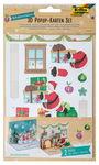 3D Pop-Up kaarten 'Kerstmis' 2 kaarten/2 envelop