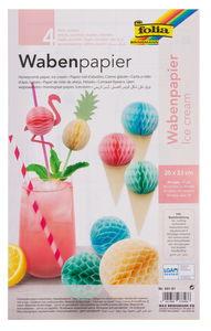 Wabenpapier, 4 Bogen Ice Cream (20 x 33 cm)