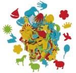 Vilten stansdelen 'Kids' zelfklevend, 12 stuks