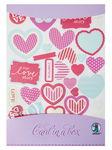 Bastelset Card in a Box, 3 Stück rosa/pink/lila