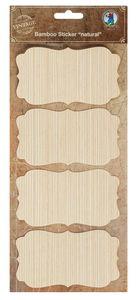 Bambus-Sticker, 4 Stück Rechteck  (11 x 6 cm)