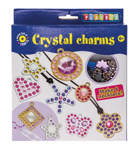 Schmuck-Bastelset, 8 Stück Kristallanhänger