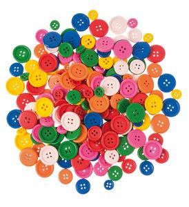 Boutons en bois, 200 pièces divers coloris/tailles