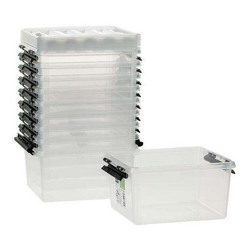 kunststoffboxen mit deckel 10 st ck 20x17x10cm 2l opitec. Black Bedroom Furniture Sets. Home Design Ideas