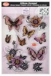 Silikonstempel, 9 Motive Blumen & Schmetterlinge