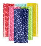Papieren rietjes - stippen, 6 kleuren, 120 stuks