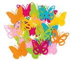 Vilten 'Vlinders' (10 cm) kleurrijk, 24 stuks