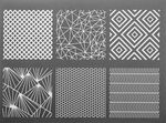 Siebdruck-Schablone Geometrie