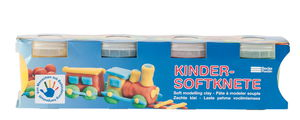 Becks Plastilin-Kinder Softknete je 150 g, 4er-Set