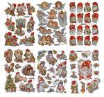 Glanzbilder Weihnachten 67 Stück