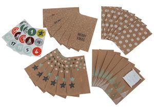 Calendario d'Avvento - sacchetti di carta...