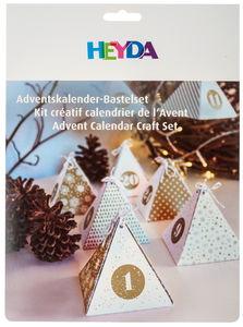 Calendario d'Avvento - piramidi, oro/bianco