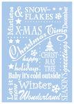 Schablone Weihnachtszeit  (42 x 30,5 cm)