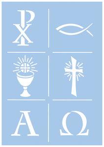 Schablone Christliche Symbole (DIN A4)