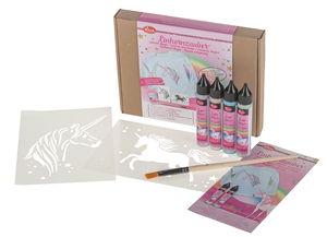 Decorazione di tessuti - magia unicorno